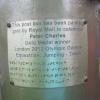 The plaque on the pillar box