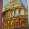 Acropolis, Rome - watercolour by Ann ©