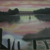 Watery Evening (pastel) © Ann Bishton 2014