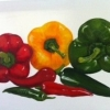 Chilis & peppers © Helen Davis 2013