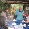 BGs enjoying tea and cake