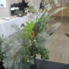 """Floral Art - Arrangement evoking a sor piece of music - """"Over the sea to Skye"""" by Camilla"""