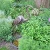 Heron garden sculpture