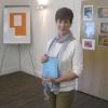 Jo Schneider winning the Best Poem Competition