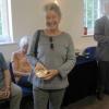 Diana Groot Copp winning the Claughton Diamond Award for the Finest Flower - her Dahlia