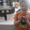 Sam Dewing winning his cup for the Best In Show for his Elephant Water Feature