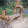 Humming birds bench