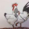 Chickens (acryllic) © by Chris Davies 2016