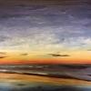 Threatening sunset (acrylic) © by Sue Robinson 2016