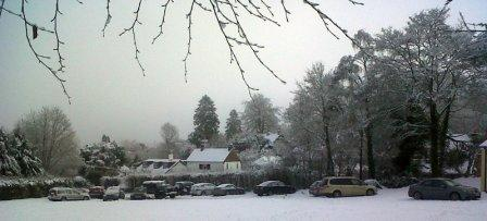 "A good 6"" of snow on Monday 21st December caused many villagers to abandon their cars at the Hall overnight"