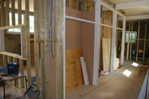 Interior partitions now in place