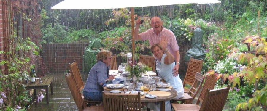 SS – Beech friends food and a large umbrella!!