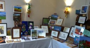 The Art Group's stall at the 2013 Beech Christmas Gift Fayre