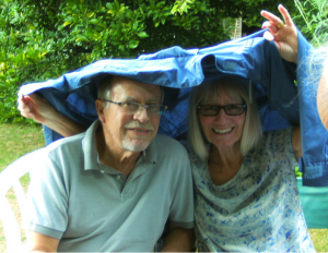 Phil and Wendy in the rain
