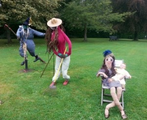 All the scarecrows - aren't they scarey!!