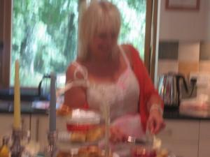 Helen making more tea