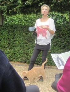Rose trying to lecture us plus cat !!