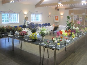 The displays from the floral end