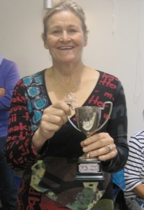 Sheila Sorby wins the Stoodley Cup for the highest number of points achieved in the show