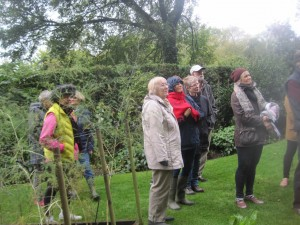 Sheila and some of the BGs listening carefully
