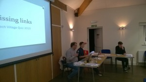 Quizmasters John, Tom & Josh Bembridge