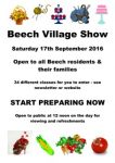 Beech Village Show – Saturday 17th September 2016