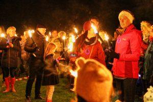Lighting the bonfire
