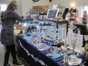 A lovely blue twinkly stall
