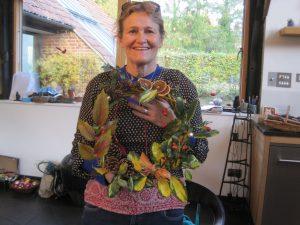 Sheila's beautiful Christmas wreath