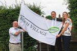 Beech Village Hall Raises Village Flag